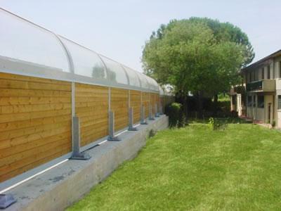 Barriere fonoassorbenti giardino