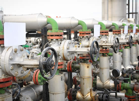 Silencing of methane gas reducing valves