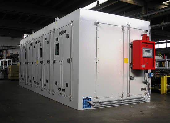 Soundproofed shelters for on-board engines or power generators
