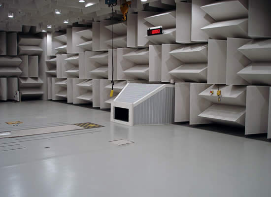 Anechoic chambers for acoustic measures