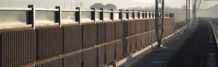 Concrete Noise Barriers for Railways and Motorways