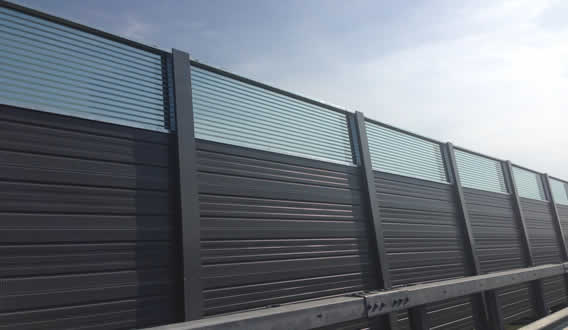 Clear Glass Noise Barriers