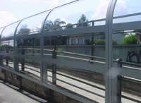 PMMA TRANSPARENT PANEL FOR NOISE BARRIERS